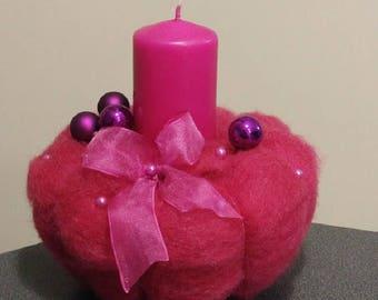 Christmas gift idea - Pink Candlestick