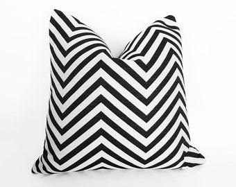FREE SHIPPING, Pillow Covers, Chevron Pillow, Black White Pillow, Iridescent, Accent Pillow, Decorative Throw Pillow, Designer Cushion,  NEW