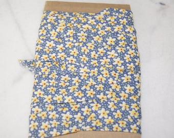 1 M X 2 CM blue floral fabric