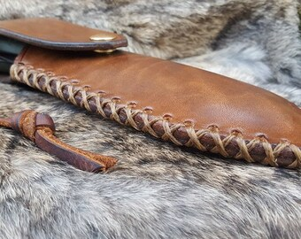 NEW! Bahco Saw Sheath - High Ride, Right Hand Draw (Cross Stitched)