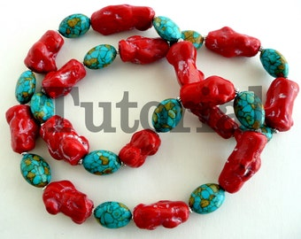 Faux Coral Tube Beads Tutorial