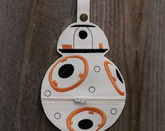 BB8 robot Star Wars Inspired Purse, Star Wars gift, unique gift, stocking stuffer, gift for friend, gift for coworker, mini purse, ballrobot