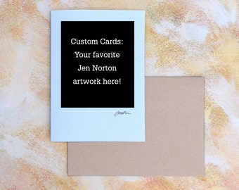 Hand-made Signed Greeting Cards, Pick your favorite image from my shop, custom cards, single or card sets