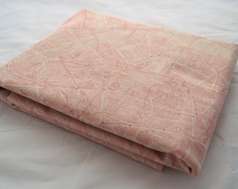 PARIS Flea Market France Fabric 3 yds Moda quilt sewing 3 Sisters ballet slipper pink city French farmhouse shabby 3 full yards map 3736-16