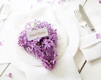 Serviettes en lin blanc ensemble de 6 serviettes de table - serviettes de table serviette de table nappes - serviettes de table blanche - mariage - cocktail