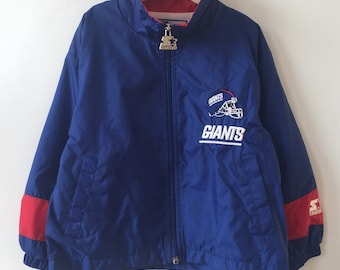 new york giants windbreaker starter jacket little kids size small