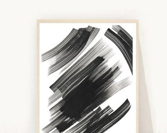 Abstract Wall Art, Black Abstract Art, Ink Art, Printable Art, Abstract Art Print, Home Decor, Wall Decor,  Instant Download