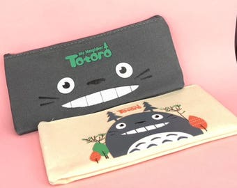 Totoro anime canvas pencil bag x 1