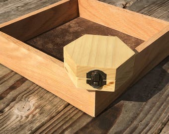 Poplar Hexagon Dice Box