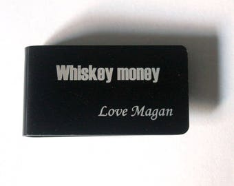 whiskey gift, Personalized money clip, whiskey lover, Father of the bride groom gift, Groomsman money clip, Money clip, Money wallet,Stepdad