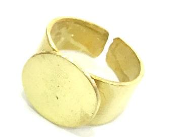 Raw Brass Adjustable Ring Blank (15mm Blank) G5117