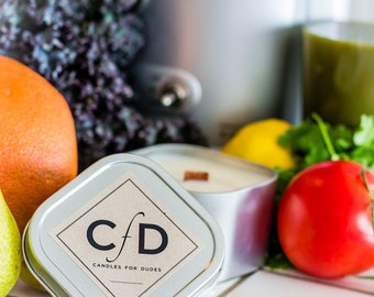 """Citrus Man Candle - Our """"ColdPressed"""" Soy Candle 4 or 8 oz"""