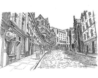 Victoria Street in Edinburgh
