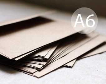"""25 4x6 Kraft Envelopes - A6 size - 4x6 kraft brown envelope (true size 4 3/4"""" x 6 1/2"""")"""