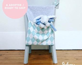 Put blanket or to adopt - Pajama bag blue white