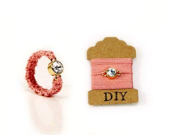 DIY ring kit - crochet ring set - free crochet pattern - crystal ring - crochet thread - DIY Jewelry kit - diy jewelry - MudenoMade