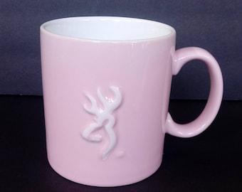 Pink Browning Mug ~ Hunting ~ Stag ~ Deer ~ Elk ~ Pink ~ Gift for Her ~ Mug ~ Coffee Cup ~