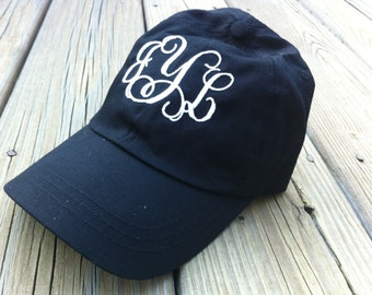 Monogrammed ball cap hat!