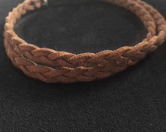 Multi-Wrap Anklet -- Braided Faux Suede Cord // MTO // Braided Anklet // Braided Cord // Bohemian Jewelry //