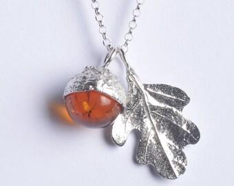 Amber Acorn necklace