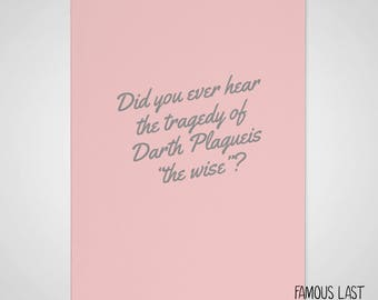 DOWNLOAD (pdf) Have you heard the Tragedy of Darth Plagueis? - Star Wars - Darth Sidious / Emperor Palpatine - Prequel Memes card