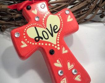 LOVE - Door Rosary for Wedding, Graduation, Birthday, New Homeowner, Your Favorite Catholic. Unique Handmade Religious Gift.