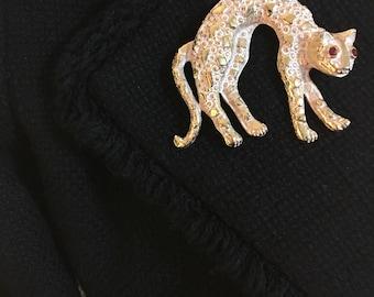Vintage Leopard Brooch