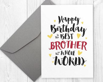 Sarcastic birthday card for boyfriend handmade greeting card printable happy birthday card for brother best brother in the world card happy birthday m4hsunfo Gallery