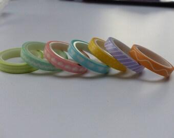 7 Washi tape washi pastel heart polka dot stripe