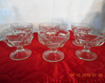 Sundae and Sherbet Cups - Set of Six