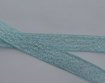 satin Silver Blue 10mm wide organza Ribbon 3 m