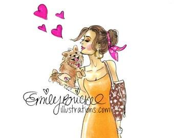 Quick Custom Fashion Illustrations By Emily Brickel