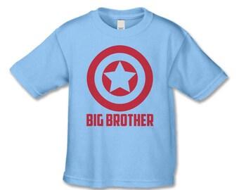 Big Brother Shirts - Superhero Big Brother T-Shirt - Pregnancy Announcement Shirt - Big Brother Announcement Shirt - Sibling Shirts