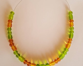 Necklace murano glass beads