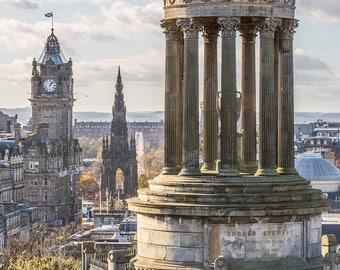 Edinburgh from Calton Hill in Autumn