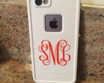 Monogrammed iPhone Decal