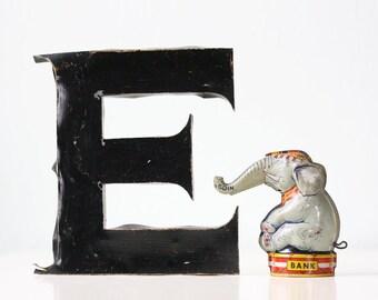 Vintage Elephant Bank, J Chein & Co. Tin Toy Bank, Circus Elephant