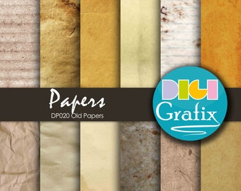 SALE Old Paper Digital Paper - Old papers, Old papers Digital Paper, Printable Paper, Old papers Birthday Party, Old papers