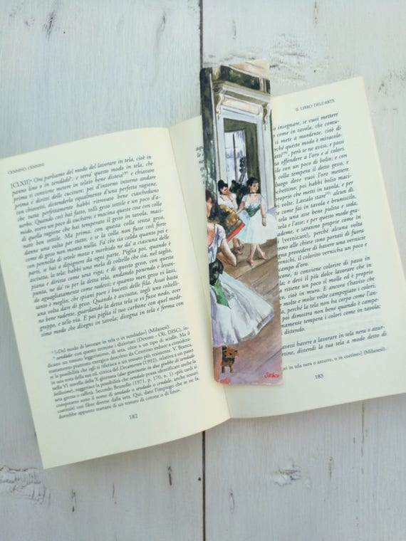 Bookmark Watercolor, handmade, paper bookmarks, custom bookmarks, wedding favors-Impressionists #6