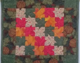 Miniature Quilt - Falling Leaves