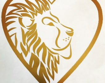 Lion Heart Decal
