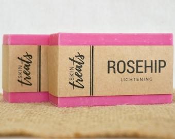 Rosehip Soap SET OF 2, Chamomile Soap Bar, Palm Oil Free Soap, All Natural Soap Gift Set, Aloe Vera Soap, Lightening Soap, Homemade Soap