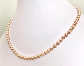 Vintage Pink Pearl Necklace   GJ3250