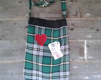 Cape Breton Tartan Crossbody Tote Bag