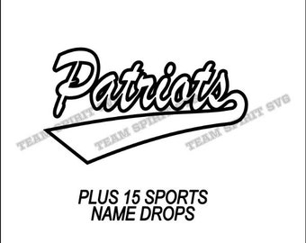 Patriots Swoosh Download Files - SVG, DXF, EPS, Silhouette Studio, Vinyl Cutting Files, Digital Cut Files - Use with Cricut and Silhouette