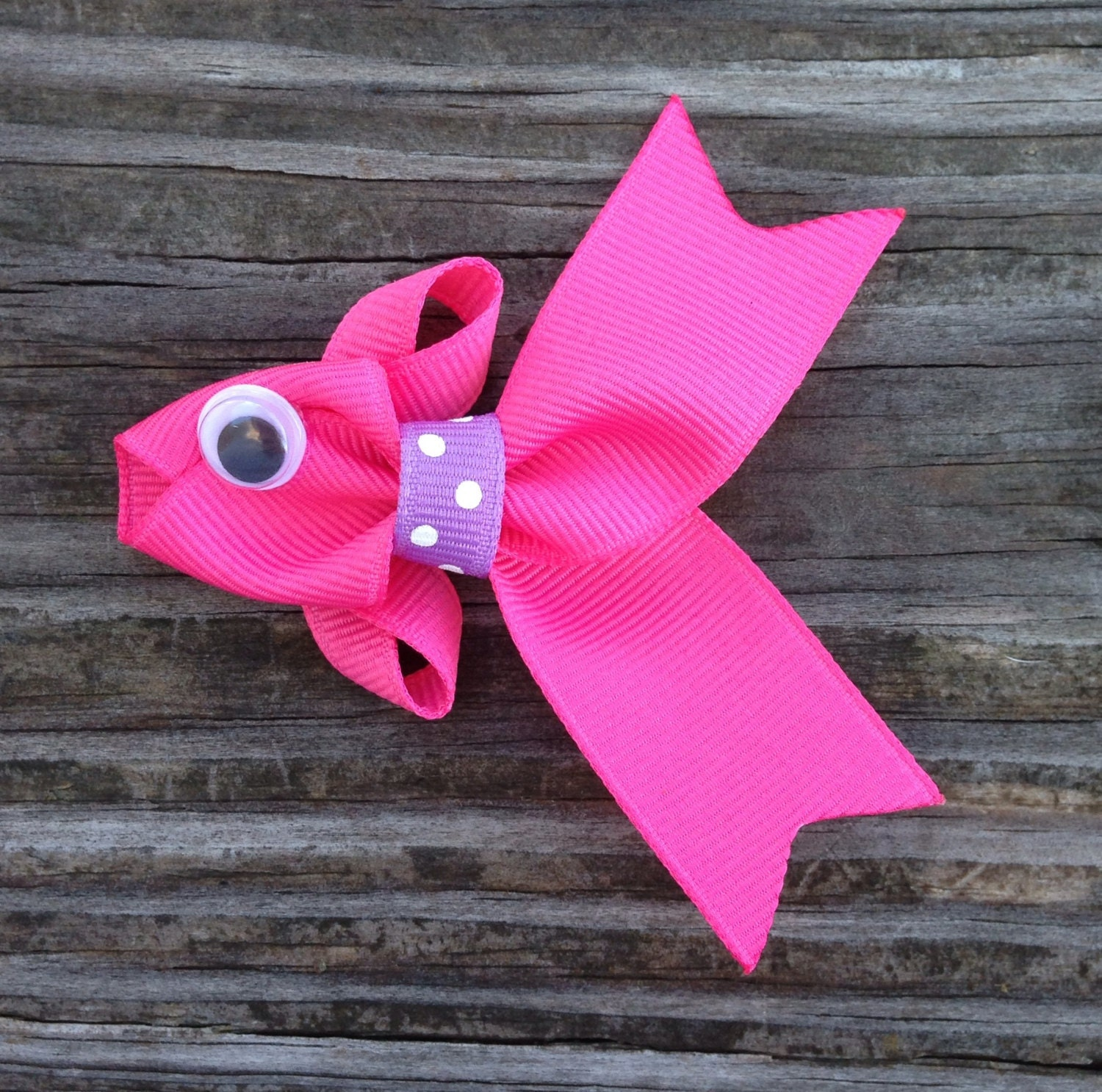 Hot pink fish hair clip tropical fish hair clip fish ribbon zoom jeuxipadfo Images