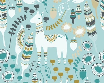 Lovely Llama Fabric - Boho
