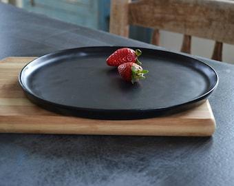 Ceramic Serving Plate Ceramic Dinnerware Plate Black Ceramic Tray Modern Black Platter Modern Kitchen Plate Black Pottery Wedding Gift & Ceramic Plate Dinner Set Ceramic Dinnerware Serving Plates