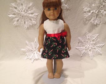 18 inch doll Candy Cane dress