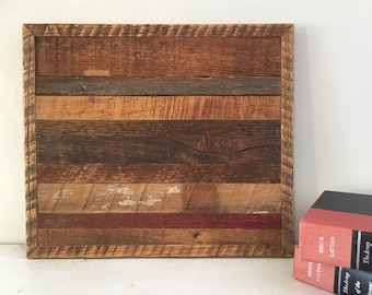 Barn Wood Picture, Country Decor, Farm Decor, Barn Wood Wall Hanging, Barn Wood Art, Barn Wood Decor, Barn Wood Quilt, Reclaimed Wood